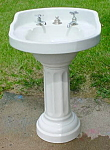 Click to view larger image of Early, Bathroom Sink & Pedestal (Image1)