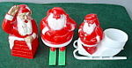 Click here to enlarge image and see more about item hol21-1183387454: Early Plastic Santa Collection