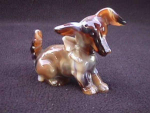 Click here to enlarge image and see more about item i125: IMPERIAL CARAMEL SLAG GLASS ANIMAL TERRIER