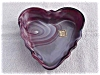 Click to view larger image of Imperial Purple Slag Heart Leaf Box (Image2)