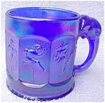 Click to view larger image of Imperial Blue Iridescent Child's Circus Mug (Image1)