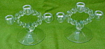 Imperial Candlewick 3 Light Candleholders