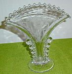 Imperial Candlewick Floral Etch Fan Vase