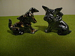 Pr. of Imperial Glass Animal Pups