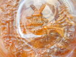 Click to view larger image of Imperial Caramel Slag Glass Windmill Plate (Image2)