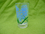 Hyacinth Flower Peanut Butter Glass