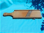 Click here to enlarge image and see more about item k26: Early Wooden Board Slaw Cutter