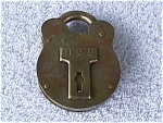 Click here to enlarge image and see more about item m10: USN Brass Padlock