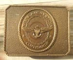 Click here to enlarge image and see more about item m73: Naval Air Systems Command Brass Belt Buckle