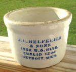 Click to view larger image of J.C. Helferick Butter Crock Detroit, Mich. (Image1)