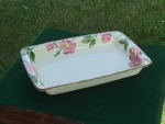 Click here to enlarge image and see more about item p30: Franciscan Desert Rose Rectangle Baking Dish