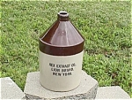 Click here to enlarge image and see more about item p50: Rex Extract Co. New York Crock Jug