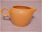 Click here to enlarge image and see more about item p53: Vintage Yellow Fiesta Ice Lip Pitcher