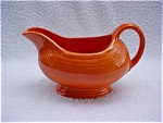 Click here to enlarge image and see more about item p59: Vintage Red Fiesta Gravy Boat