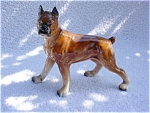 Click here to enlarge image and see more about item pc10: Ceramic/Porcelain Boxer Dog Figurine
