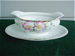 Click here to enlarge image and see more about item pc17: Noritake Azalea Gravy Boat & Underplate