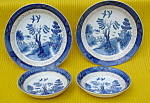 Occupied Japan Blue Willow Ware Set