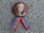 Click here to enlarge image and see more about item pol1: 1940S 1 1/4 Roosevelt/Truman Potrait Pinback