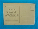 Click here to enlarge image and see more about item post9: 1930's Monticello Thomas Jefferson Postcards
