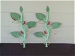 Click here to enlarge image and see more about item pt1: 1950's Iron Tree Branch w/Bird Plant Holders