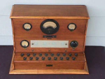 Click here to enlarge image and see more about item rad1: 1930s Jewell Electrical Cabinet Tube Tester