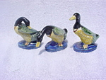 Click here to enlarge image and see more about item rd23: 3 Occupied Japan Ducks