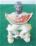 Click here to enlarge image and see more about item st20: Early Black Man Fig. Eating Watermelon