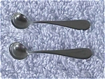 Click here to enlarge image and see more about item st9: Pr. of Sterling Silver Salt Spoons