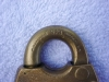 "Click to view larger image of Vintage ""WB"" Brass Padlock (Image2)"