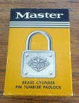 Master 77 Padlock w/Org Box & Keys Unused