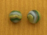 Click to view larger image of PR. OF GREEN & YELLOW POPEYE MARBLES (Image1)