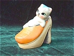 Click here to enlarge image and see more about item wr1: Kitten in Shoe Pencil Sharpener