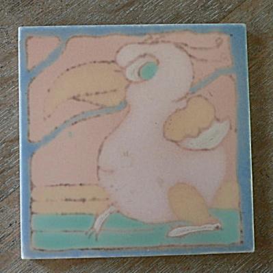 Santa Monica Tile (Taylor) - Whimsical Bird #1 (Image1)