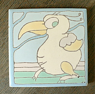 Santa Monica Tile (Taylor) - Whimsical Bird #2 (Image1)
