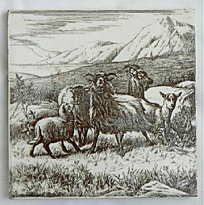 Highly Unusual Backmark William Wise Animal Tile (Image1)