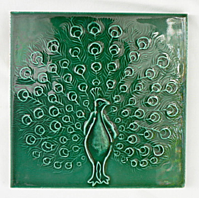 Antique Tile with Peacock (Image1)