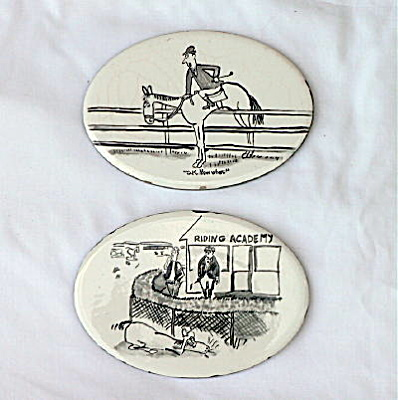 Vintage Whimsical Wheeling Tiles with Horses (Image1)