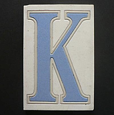 American Encaustic Alhambra Tile Initial K (Image1)