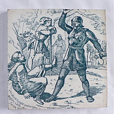 Wedgwood Tile - Black Knight & Friar Tuck (Image1)