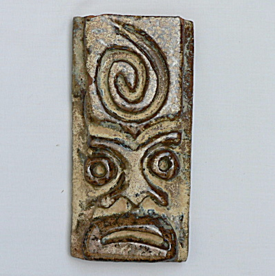 Unusual Mask Ceramic Tile