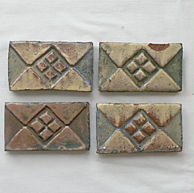 Moravian Border Tiles - Set Of 4