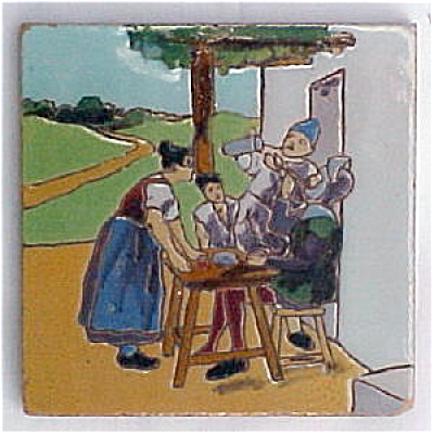 Spanish Tile Don Quixote (Image1)