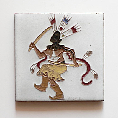 Apache Crown Dancer Tile by Gila Pottery & Daniel Nash (Image1)