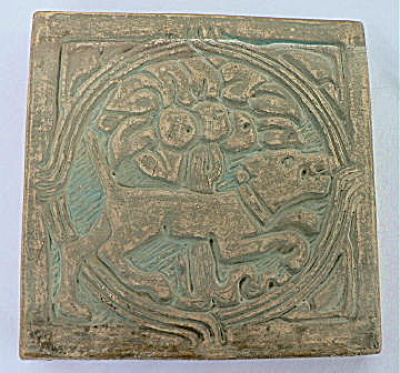Batchelder Tile - Dog and Tree (Image1)