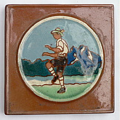 Vintage Tile With Dancing Man