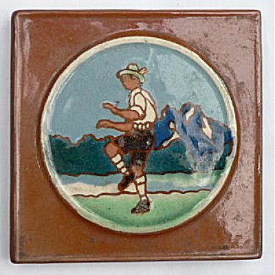 Vintage Tile with Dancing Man (Image1)