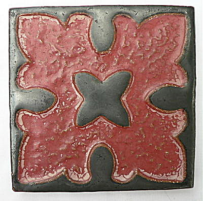Gun Metal Black and Cranberry Tile (Image1)