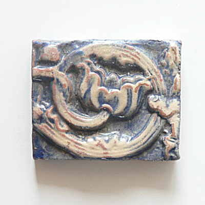 Mercer Moravian Byzantine Tile � Little Rose  (Image1)