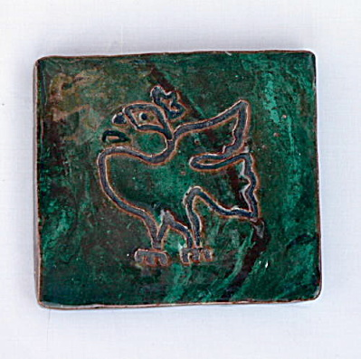 Studio Pottery Tile with Bird (Image1)