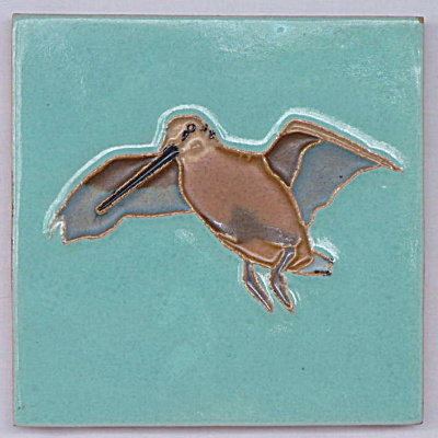 Water Bird Tile made by Richard E Bishop (Image1)